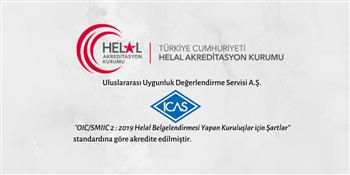 ICAS - HELAL AKREDİTASYON SERTİFİKASI