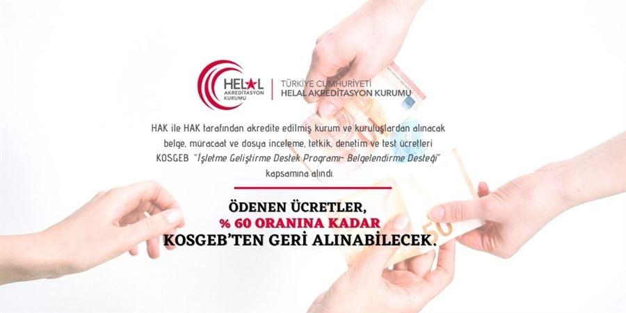 HAK akreditasyonuna KOSGEB'den destek