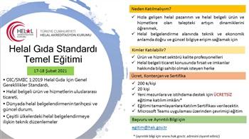 Helal Gıda Standardı Temel Eğitimi (17-18 Şubat 2021)